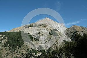 Montagne de Bure dans les Alpes