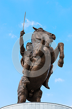 Monument of Alexander The Great - Skopje, Macedonia