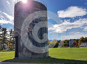 Murals on Silos in Jefferson, Vermont