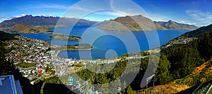 New Zealand, Queenstown, Panorama