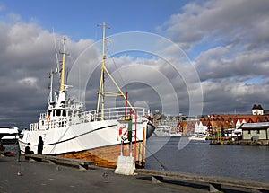 Norway Bryggen Bergen, Wharf Ship