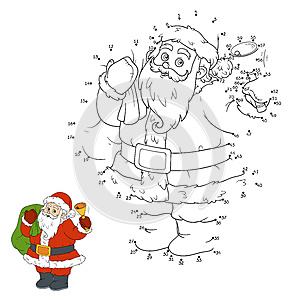 Numbers game for children: Santa Claus