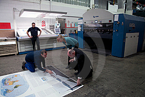 Offset print of the largest world atlas