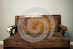 Old beaten up sofa