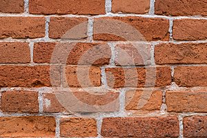 Old red brick wall texture for background.Clay bricks for buildi