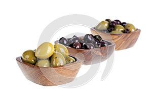 Olivgrüne Schüsseln