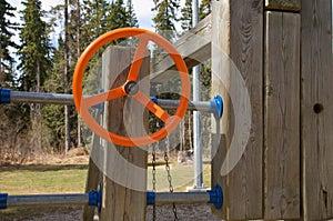 Orange Playground Steering Wheel