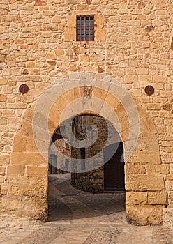 Pals medieval village entrance gate