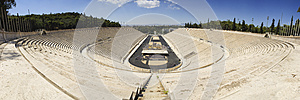 Panoramatic view of Panathenaic Olympic Stadium in Athens