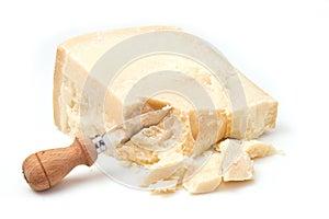 Parmesankäseparmesankäse mit Messer