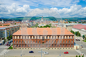 Part of Cluj city centre
