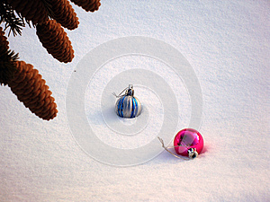 Pine cones and Christmas Toy