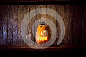 Pumpkin head jack lantern