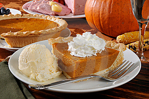 Pumpkin pie alamode
