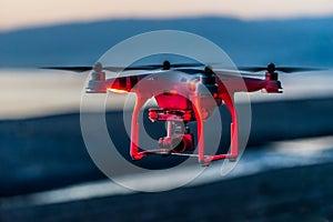 Quadcopter на красном свете