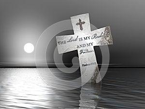Religious Cross in Water