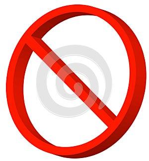 Símbolo Proibido Foto De Stock