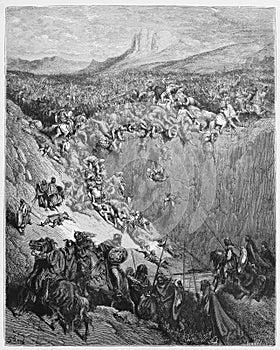 Samson destroys the Philistines