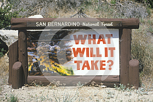 San Bernardino National Forest sign