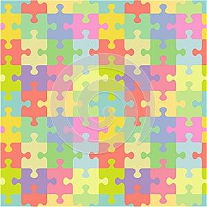 Seamless jigsaw puzzle pattern