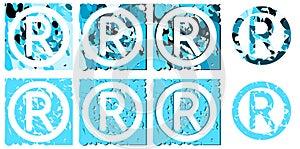 Set of trademarks symbol isolated