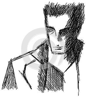 Sketch of Man portrait artistic