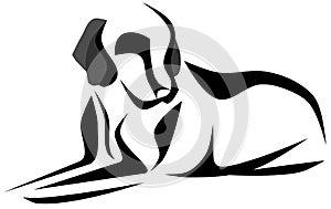 Sketch of a stilyzed dog