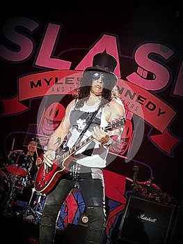 Slash ft Myles Kennedy and the Conspirators at the NoSoundFest in Servigliano, Italy
