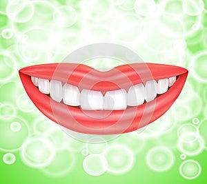 Smile. Smiling lips