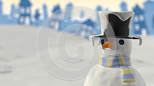 Snowman Smiling Christmas Card