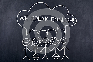 Speaking English Language Concept