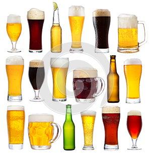 Stellen Sie mit unterschiedlichem Bier ein