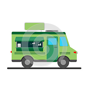 Street food truck  illustration