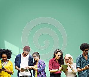 Students Learning Education Cheerful Social Media