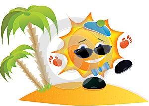 ما اجمل أن يكون الانسان شمساً بين الناس    Sun-cartoon-on-the-beach-largethumb5253320