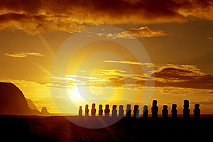 Sunrise in Easter Island - Stock Photos South Pacific Sightseeing Sites