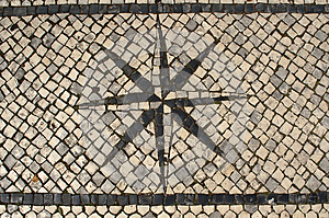 Typical Portuguese Cobblestone Pavement Windrose D
