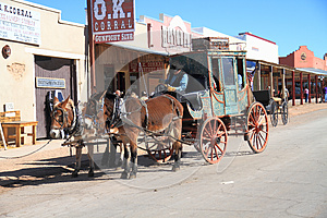 USA, Arizona/Tombstone: Old West - Stagecoach