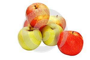 Verschiedene frische reife Äpfel