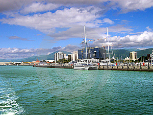 View of Cairns, Australia from the water - Stock Photos South Pacific Sightseeing Sites