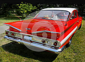 Vintage Car, Chevrolet Impala, Sports Coupe