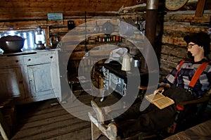 Vintage Log Cabin Interior