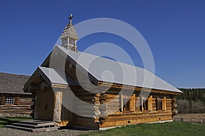 Vintage Log Church