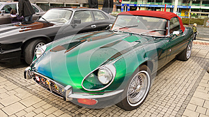 Vintage Old Classic Sports Cars Jaguar E-Type