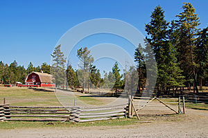 Vintage red barn ranch