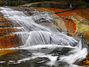 Waterfalls, Falls, Autumn, Landscape