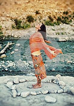 Heart Flowing Woman