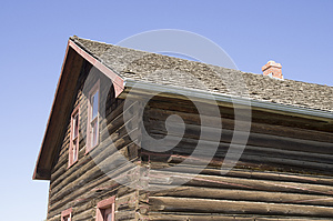 WWII Vintage Log House