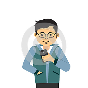 Young Man With Smartphone.