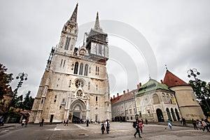 Zagreb Cathedral on Kaptol, Croatia